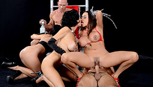 What the hell is Brazzers going to do without Johnny and Keiran? Those poor guys got mixed up in a hold-up at the nail salon and weren't lucky enough to leave with their lives. They wake up in a strange place, the Throne Room of a bizarre after-life, wher