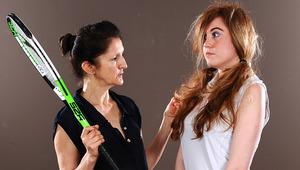 Hot babe must listen to her lesbian tennis teacher