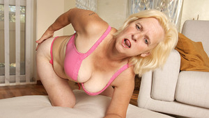 Horny housewife Janice loves to get wet and wild