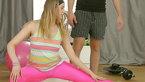 The hot pink leggings are arousing perfection on lean sporty teen Milana Fox and he can't find the power to resist them. Instead he makes a move and pulls out his cock so the young lady can go down on him and she does just that. She gives a beautiful BJ a