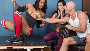 Sophia Fiore wants to help everyone fuck their way to a fitter body! She's invented a set of slutty aerobics chicks she can bring to the club to get guys looking their way. To test out her trampy techniques, Sophia's keeping her eyes on Johnny's dick thro