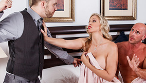 Reginald thinks he's got the perfect life and the perfect wife, but everything is not as it seems. Every day when he heads out to work, his woman Julia Ann lets the milk man in the front door to get a crack at her Milf pussy. They hop right into bed for a