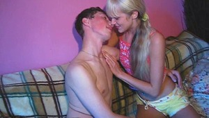 These teenagers don't mind fucking in front of the camera. They do their best to bring you sexual emotions. All your fantasies are implemented in this movie. Blonde chick sucks the cock professionally. She knows how to make guys moan. The boy fucks her pu