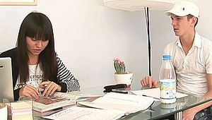 He wanted to help Karen with her homework, but he intended to do something another - for example to fuck this beautiful teen babe! Well, firstly she was against it, but after all, she gave him her sweet pussy and tight asshole to get them drilled hard! We