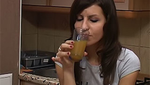 To become more relaxed, this couple decided to drink a little.  Look at this hot brunette babe that is ready to fuck in all positions! She loves doing it even when she is terribly drunk!